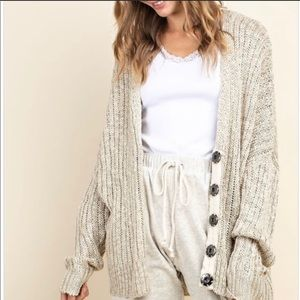 Mittoshop Ribbed Snap Button Cardigan